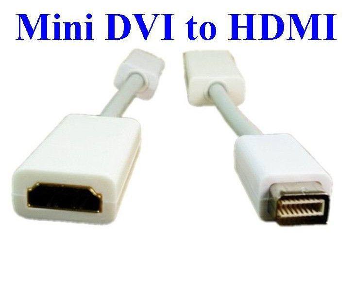 50pcs/lot*Mini DVI To HDMI M/F Video converter Adapter Cable Cord For Apple iMac Macbook Pro