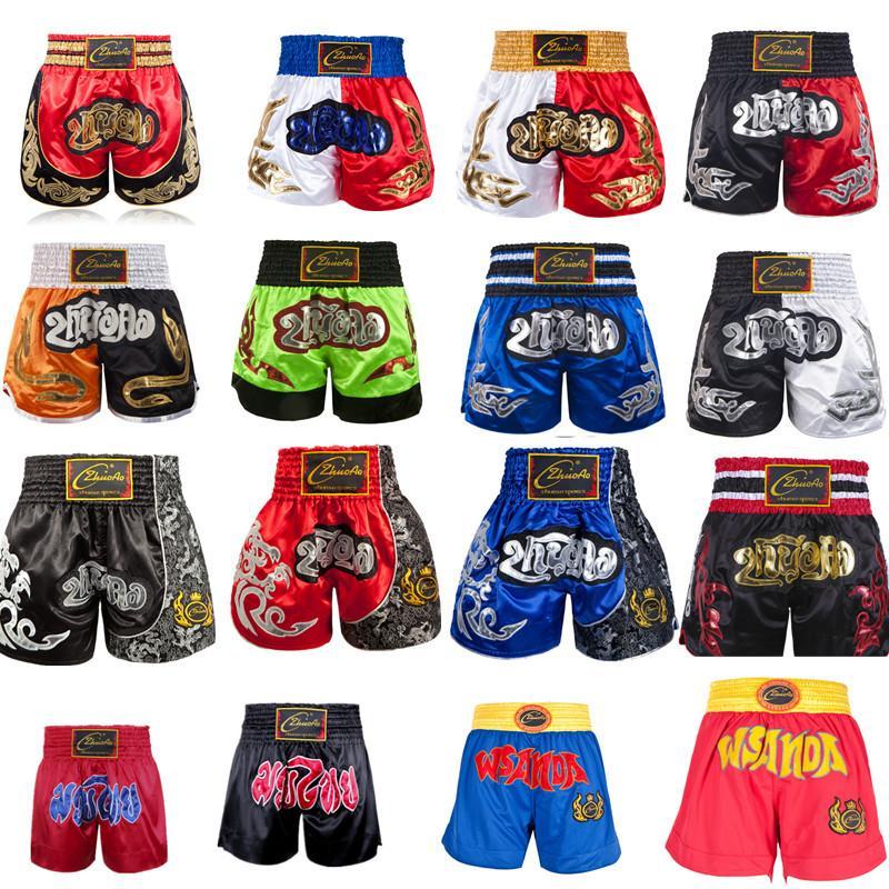 Shorts Thai Kinder Short Boxen Kinderhose Muay Thai Frauen Man Mädchen Kickboxboxershorts für Jungen Grappling Trunks