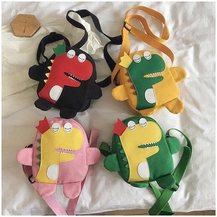 Mignon enfants toile Petit Crossbody Belle Cartoon Dinosaur Garçons Filles Sac à bandoulière Mode enfants Porte-Monnaie Mini Wallet Io7C #