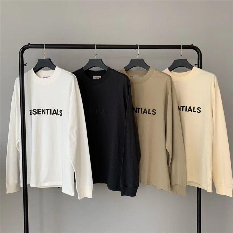 Streetwear 2020FWSs Frauen lange Männer T-Stück Beste Qualität 1 Ärmel T-Shirt T-shirt imnpg