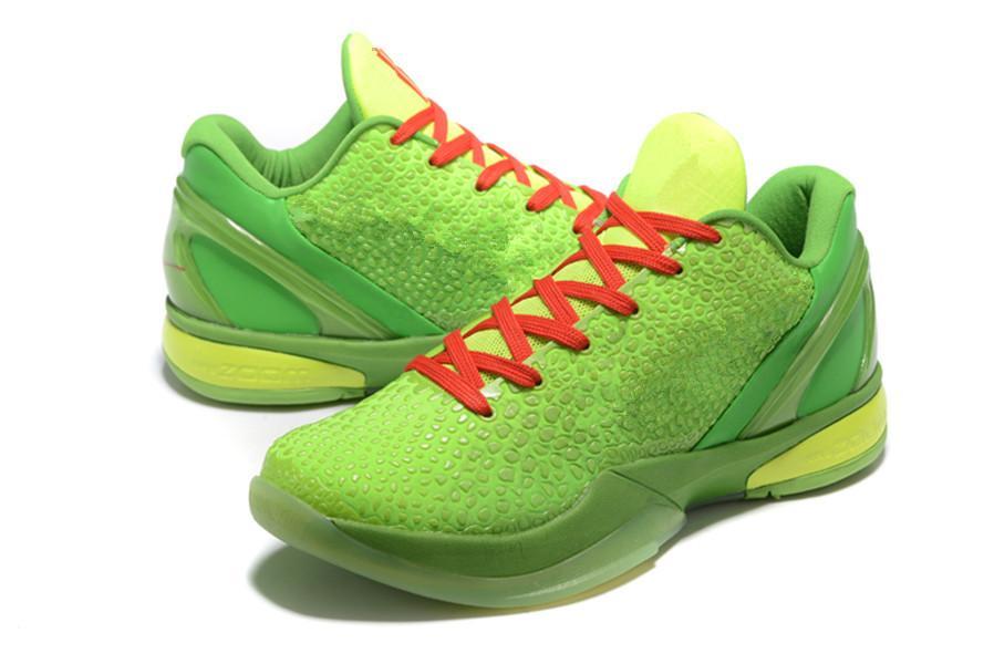 Black Mamba VI 6 Grinch Uomo Scarpe sportive Mamba 6 Pink Green Black Basket Basket Shoes with Box GRATUITA Dimensione US7-US12