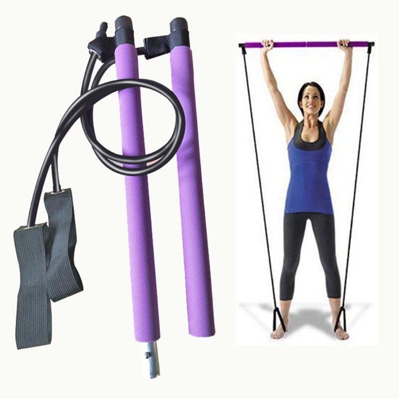 Kit de Barra Pilates Port/átil Entrenamiento Total del Cuerpo Estiramiento Yoga PROTAURI Banda de Resistencia Pilates y Barra Tonificadora Gimnasio en Casa Esculpir Fitness