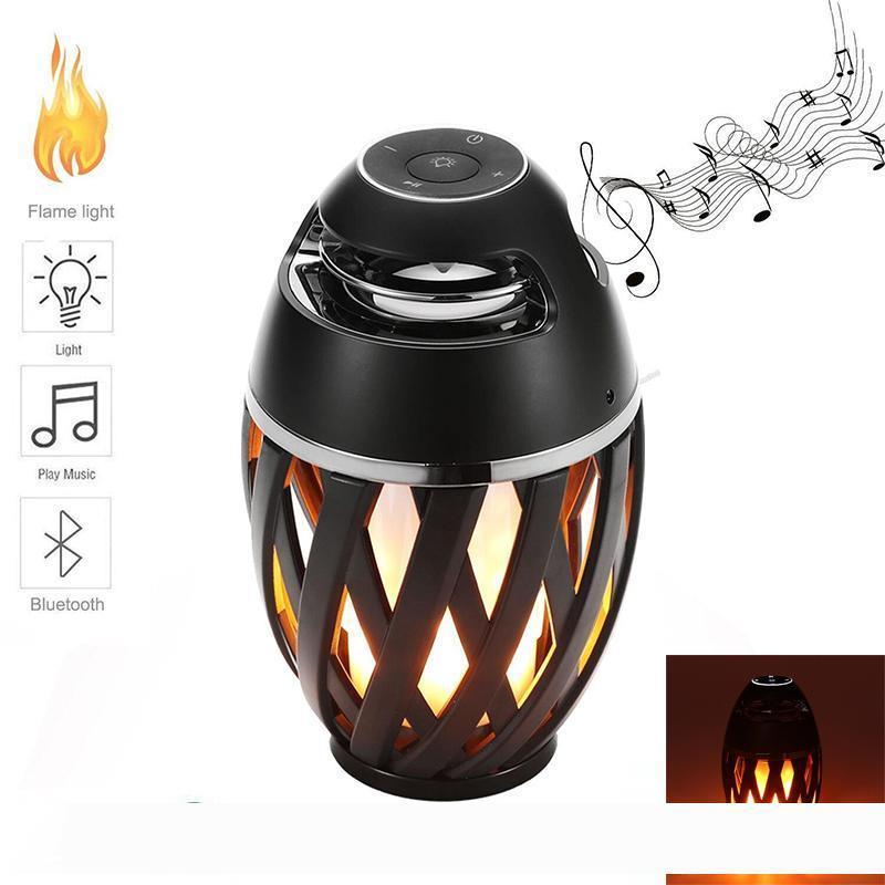 Nuevas luces llevadas llama con Bluetooth altavoz al aire libre portable llevó la llama de la lámpara Ambiente estéreo de altavoces de sonido Partido impermeable Bailar