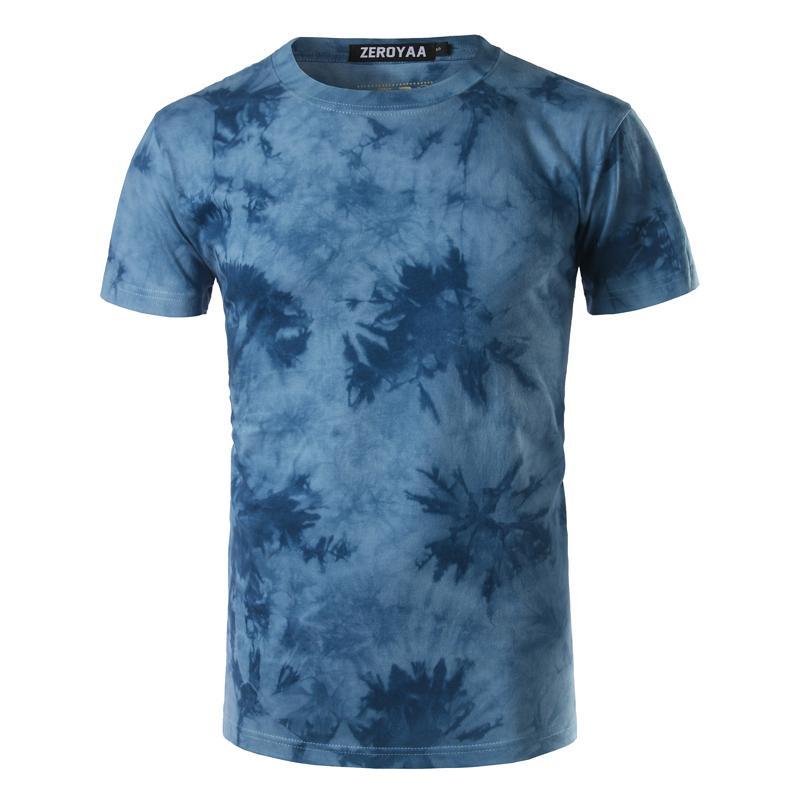 Nouveau 3D T-shirt Tie Dye Homme / Garçon T-shirt Homme 2020 Summer Fashion Casual Mens Slim Fit ras du cou à manches courtes T-shirt Xxl