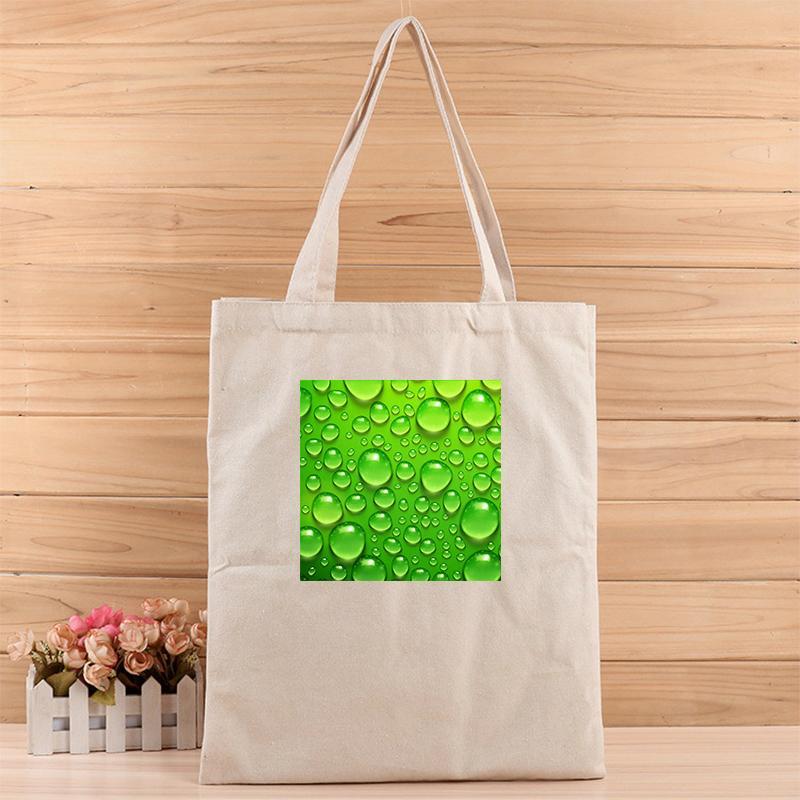 Moda Gotas de agua creativas para mujer ocasional del juego bolsas lienzo asas para hacer compras, regalo, boda, cumpleaños o cualquier otra cosa