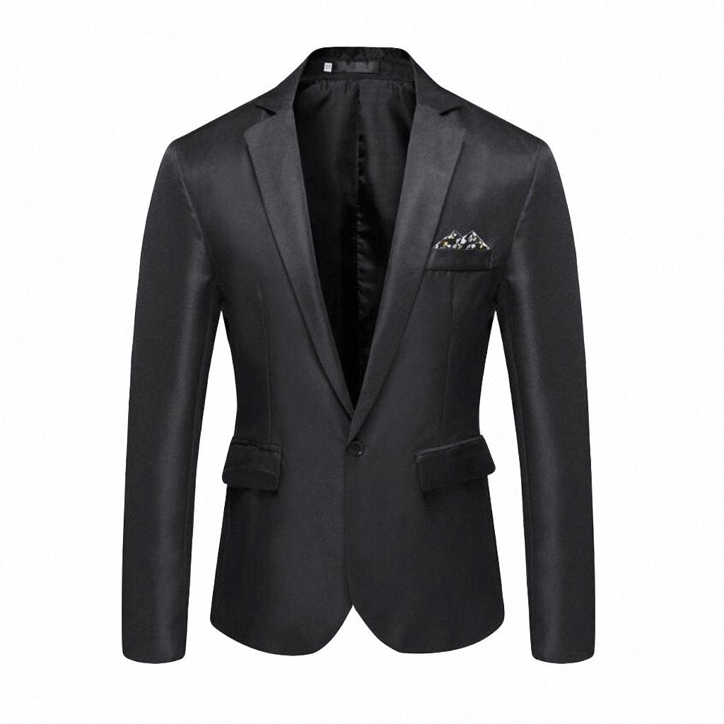 männlich Blazer Männer nehmen geeignete Partei Blazer feste Regeln Sie Hals Jackett Einreiher Geschäfts Blazer masculino L5010105 LWuW #