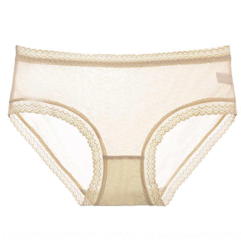 Eis-Silk Frauen-Maulbeereseide antibakterielle Unterseite Unterwäsche Spitze-Spitze Unterwäsche Mitte der Taille atmungs traceless Frauen breifs