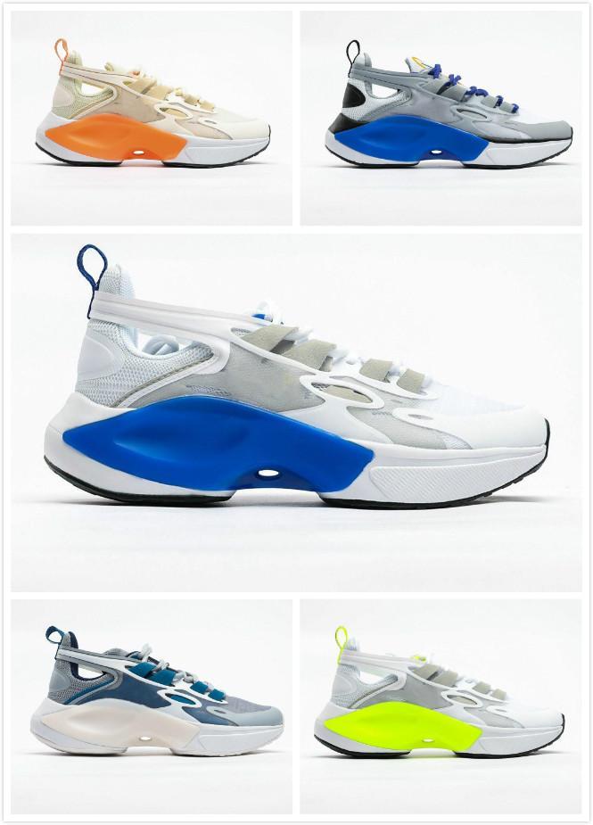 2020 nueva señal DIMSIX de los zapatos corrientes hombre blancas Negro verde fluorescente transpirables manera se divierte las zapatillas de deporte zapatos de papá