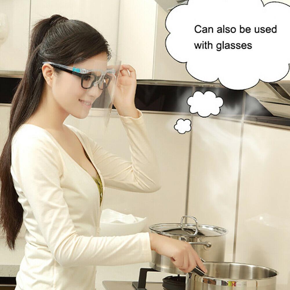 Los Estados Unidos de la seguridad anti-salpicadura de aceite careta Cocina al aire libre Cocinar Protección de los ojos anti-saliva Máscaras cara claro Mascarillas de la cubierta