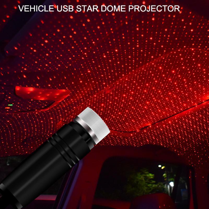 سقف السيارة ستار لايت LED الداخلية مليء بالنجوم ليزر الغلاف الجوي المحيط العارض USB السيارات ديكور المنزل ليلا أضواء ديكور غالاكسي