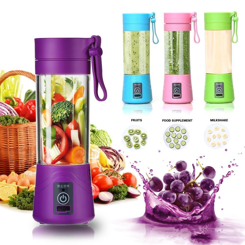 380ml Blender Portable Juicer Coupe USB rechargeable électrique automatique Smoothie aux légumes Agrume Jus d'orange Maker Cup Mixer Bouteille