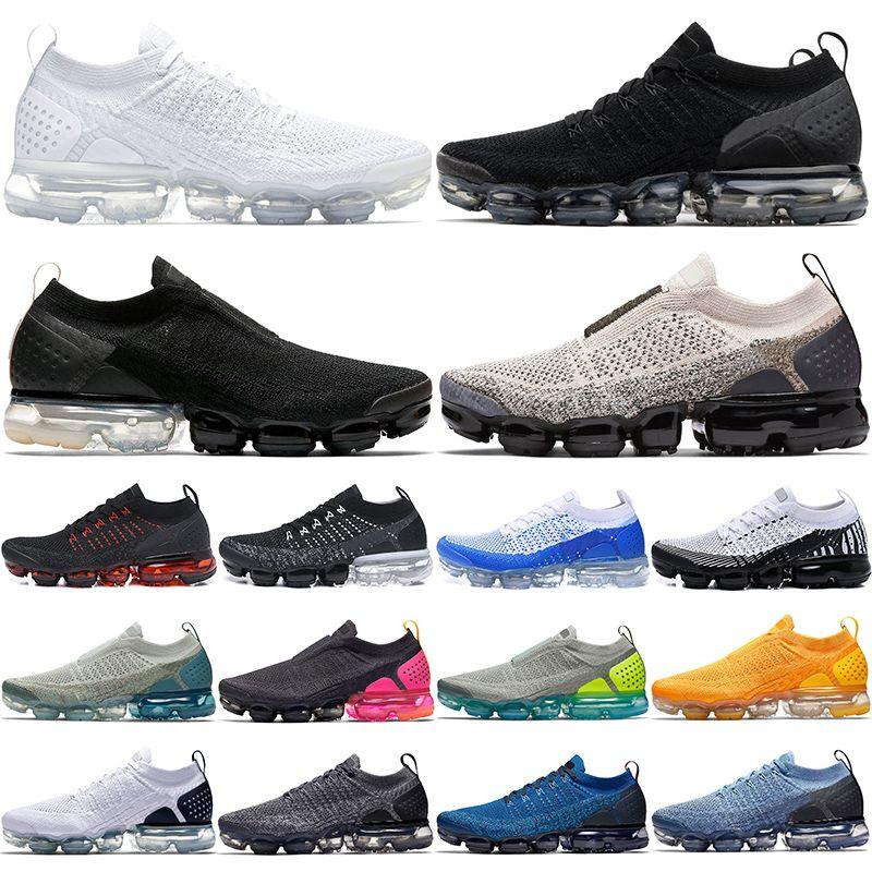 Nike Air Max vapormax 2.0 Barato 2.0 PLUS Hombres Mujeres Zapatos Corrientes Triple Negro Blanco Rojo Órbita Mango Crimson Pulse Diseñador Trainer Sport Sneaker