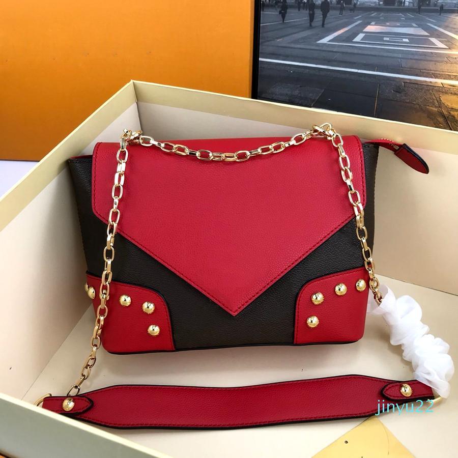 2020 concepteur de luxe de concepteur de sac à main des femmes de sacs d'épaule concepteur de luxe sac à bandoulière sac en cuir véritable de haute qualité Sac à rabat