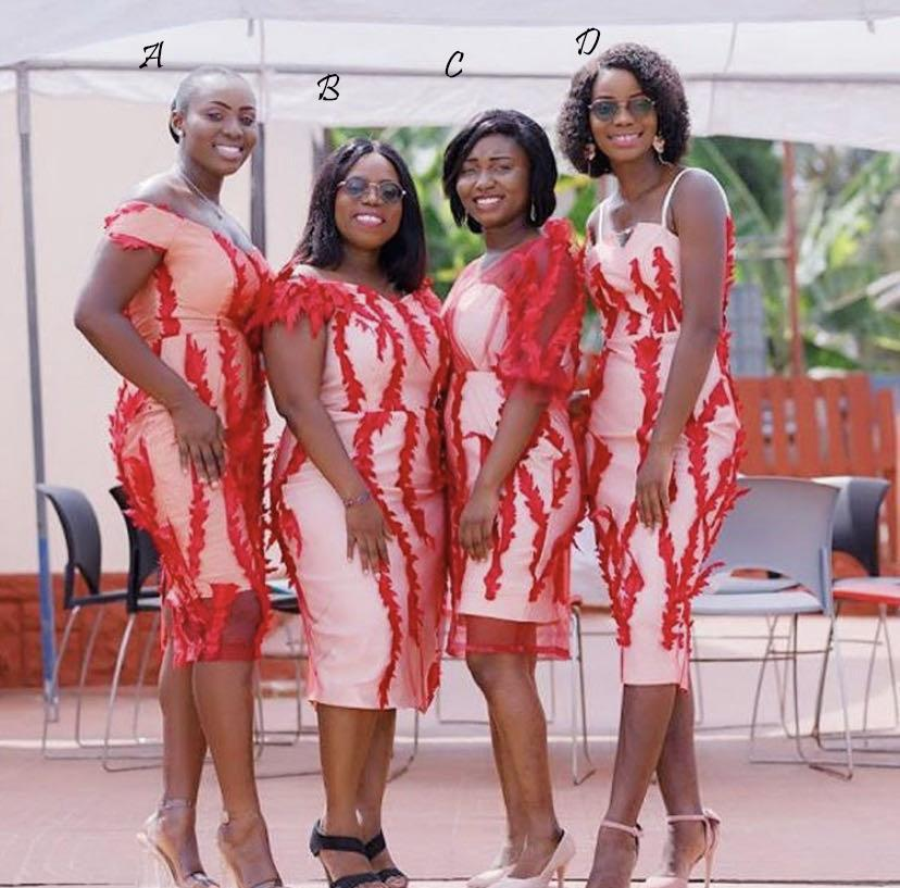 2020 africano corto más el vestido invitados de la boda vestidos de dama Applique del cordón atractivo Vestidos de novia Vestidos vestido formales del partido