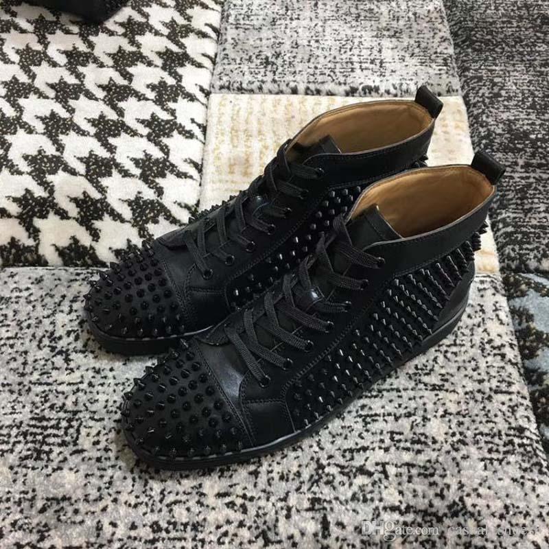 2020 NUOVO inferiore rosso sneakers Drill chiodo di alta della banda di camoscio a spillo scarpe per pelle di cristallo uomini e donne scarpe da cowboy Martin partito Sn GH3