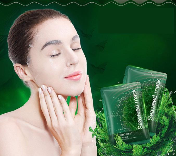 Algas tratamiento del acné Hidratar Hidratar Negro cara Cuidado de la piel profunda reparación Aceite-Control Mascarilla Anti hinchazón mascarillas mayorista