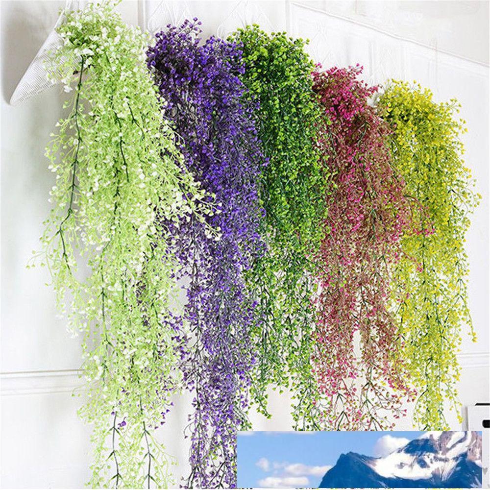 Neue Ankunft Künstliche gefälschte Seide Blume Rebe Garten Dekoration Hängen Girlande Pflanze Künstliche Pflanzen Hausgarten Hochzeit Dekor