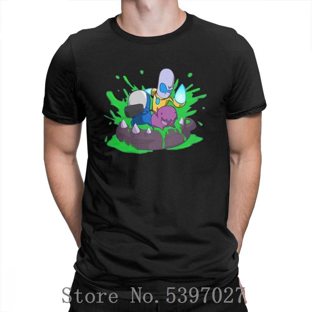 El desove fiesta en la piscina Carbot camiseta para hombres animado juego Vintage juego o cuello Camiseta de manga corta de las camisetas del algodón Tops únicos