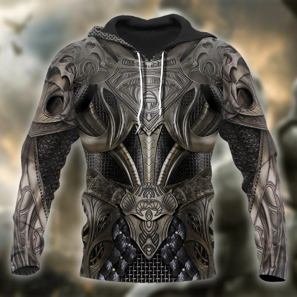3D Impresso cavaleiro medieval Armadura Homens hoodies Templários Harajuku Moda Unissex moletom com capuz Casual jaqueta com capuz QS22 CX200723