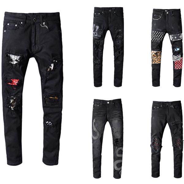 2020 джинсы денима прямые байкер узкие джинсы Повседневная Брюки ковбой известная марка молнии Дизайнер Горячие Продажа мужские дизайнерские джинсы