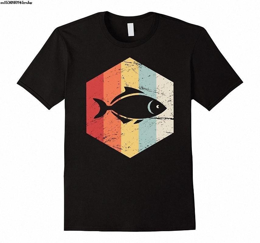 Retro Vintage Pet Fish Aquarium T shirt da uomo in cotone rotonda Colletto classico manica corta T T Shirt Estate supera i T P37 4vOq #