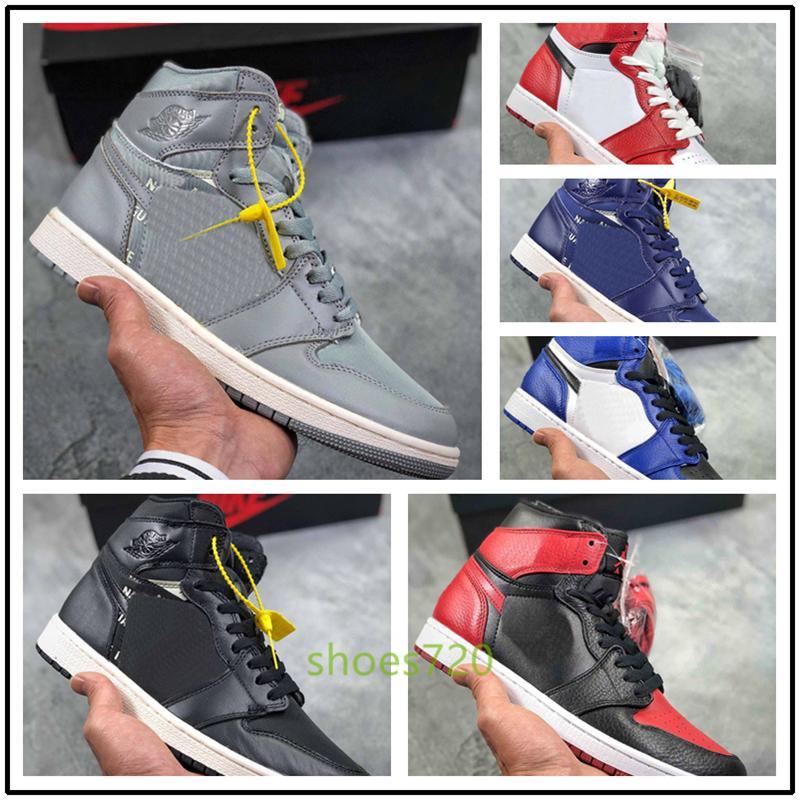 Nike Air jordan 1 x Retro off AJ1 high aj 1 1s Off OG Chaussures de basket hors Mans Chicago chaussures de marque femme vert blanc noir formateurs Bonne qualité luxe Sport Sneakers