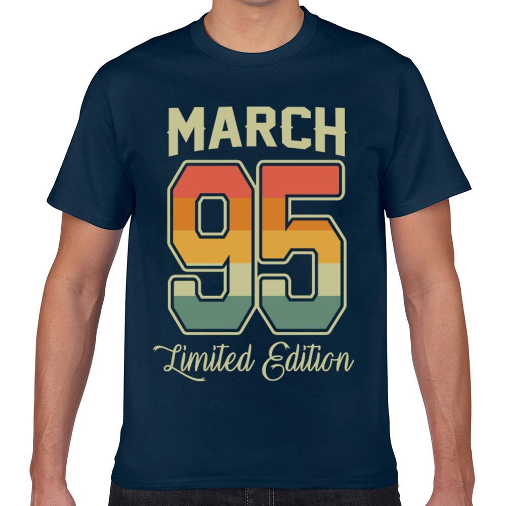 Tops T Shirt Men vintage 25th birthday march 1995 sports Summer Vintage Geek Cotton Male Tshirt XXX