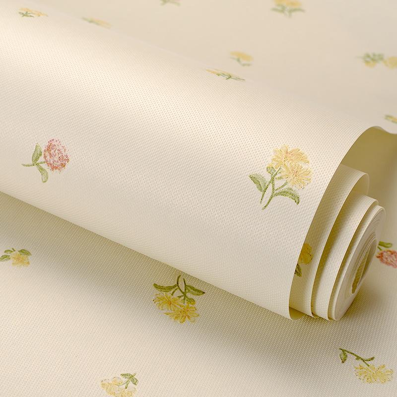 Carta da parati PAYSOTA stile coreano Piccolo floreale e romantica non tessuto per bambini camera da letto Parete di fondo Rotolo di carta