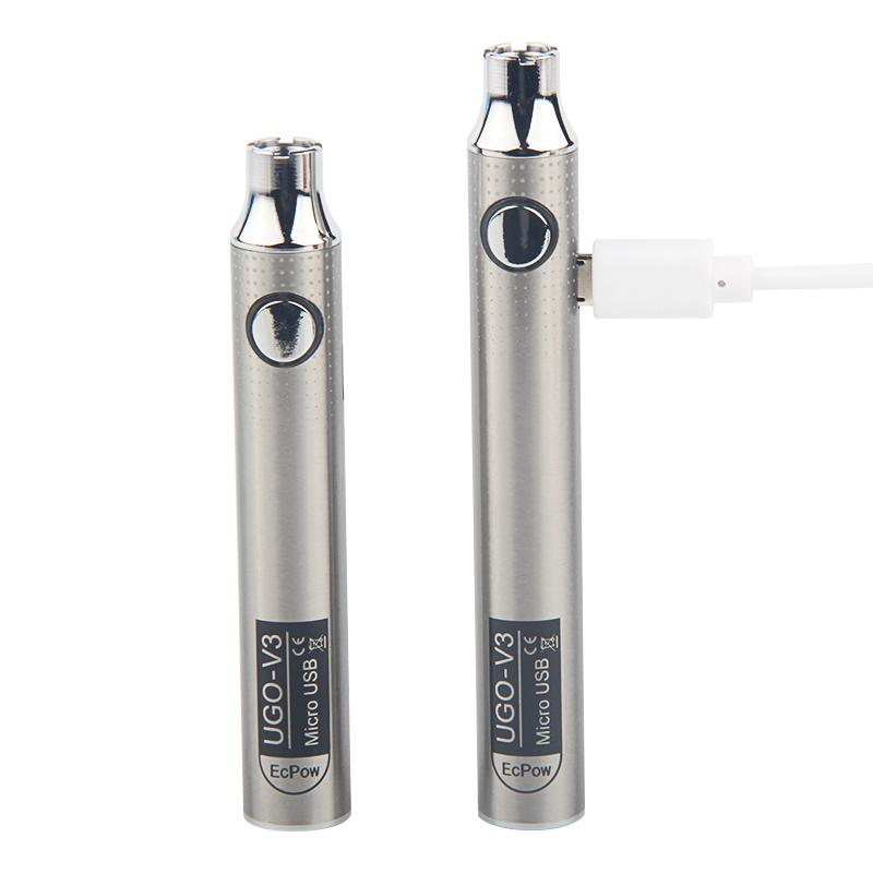 Vape Chariots Préchauffage batterie 510 fil céramique Bobine Atomiseur charge UGO V3 variable Tension E Cig Vaping 650mAh 900mAh Big Smoke Batterie