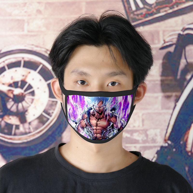 Freies DHL-Verschiffen Dragon Ball Helden 0620 waschbare Gesichtsmaske Wiederverwendbare Facemasks für Mens Ice Silk Doppel Maske Masque Tissu Tapabocas qqds qp