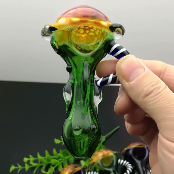 nouvelle Europe et Americaglass tuyau barboteur eau pipe en verre bong peint pipe en verre en nid d'abeille