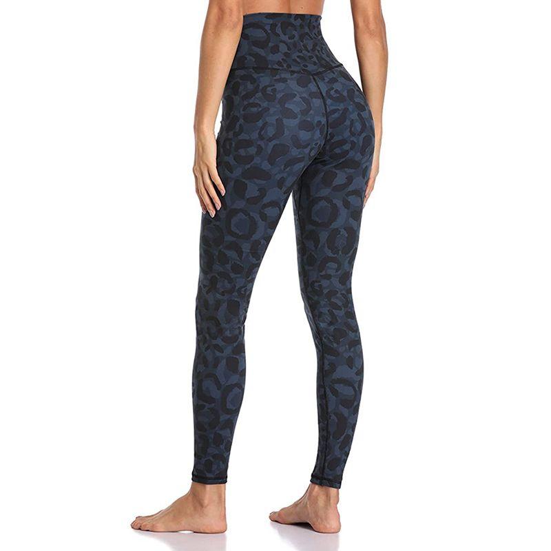 2020 New Leopard Print High Waist Hip Push Up Yoga Leggings Women High Elastic Slim Gym Workout Tight Pants Fitness Clothing