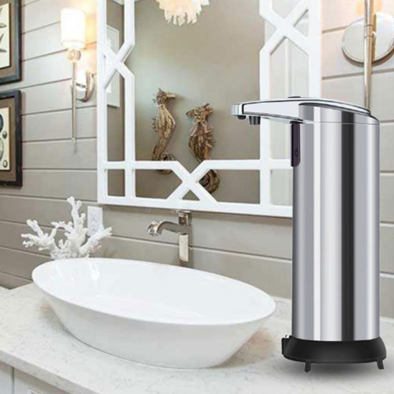Wasserdichte Technologie Touchless Automatischer Seifenspender IR-Sensor Wasserdichte Edelstahl-Freisprecheinrichtung Flüssiges Zubehör 250ml CX200718