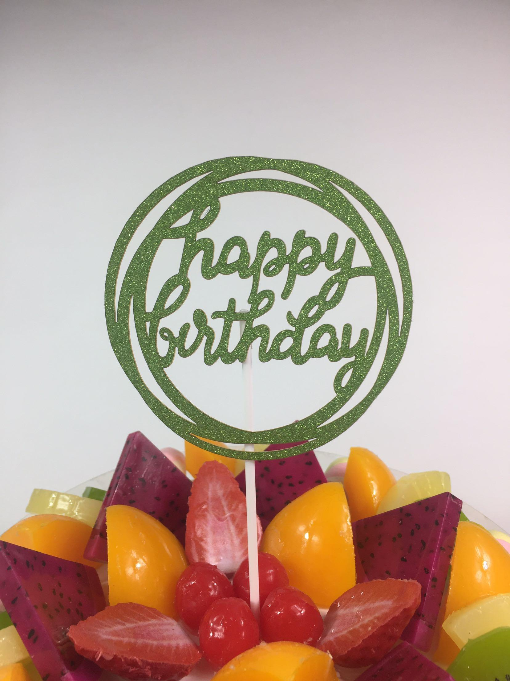 Kuchen-Kuchen-Deckel-Karte Mode-Goldsplitter Geburtstag Hausdekor, Liebe Backen Kuchen glücklich nach Hause 1pc neue Neuheit Acryl Party Supplies