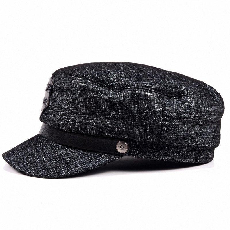 2019 yeni kadın erkek kış şapka gelgit kalın sıcak deri Lokomotif düz kap, kap, gündelik şapka, bere şapka EeWH #