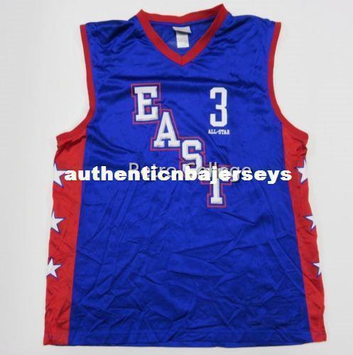 Eastern s Ben Wallace Formalar NCAA yelek 3. Mavi Basketbol Jersey Tüm Boyut Dikişli Dikişli özelleştirme herhangi bir ad ve ad XS-6XL