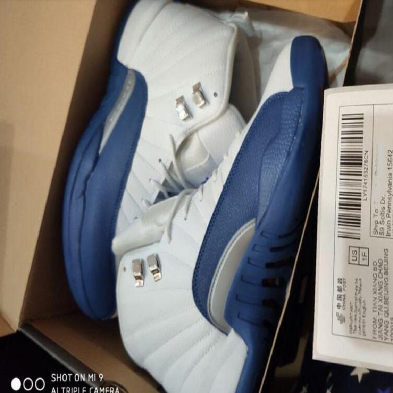 Ucuz Yeni Erkek Basketbol Erkekler Spor Ayakkabıları Yüksek Cut Kırmızı Ayakkabı için Sneakers 12S XII Gribi Oyunu Kraliyet Taksi FIBA Ayakkabı