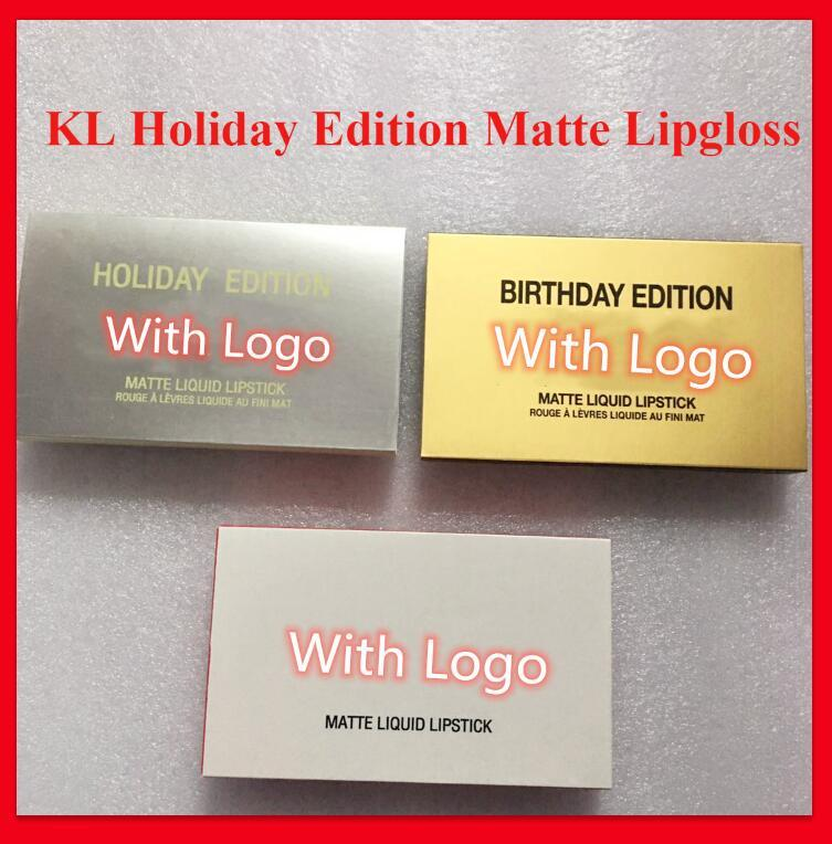 Famous brand lip makeup Holiday Edition lip gloss Birthday Edition MATTE Liquid lipstick valentine edition 6pcs set lipgloss high quality