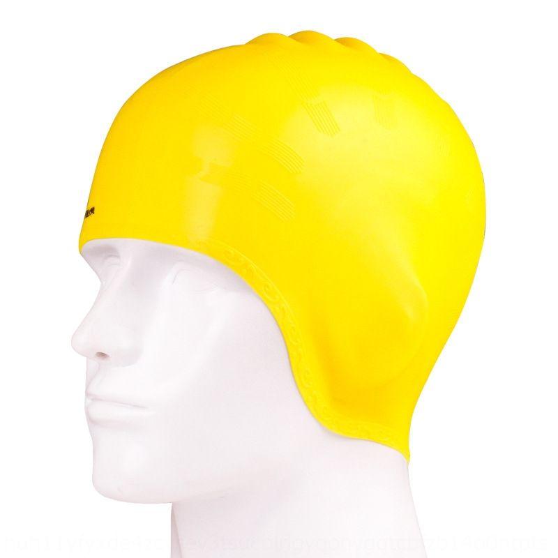 Jiehu oreja de silicona de silicona de protección protección para los oídos de gorro de baño gorro de baño cómodo elástico sombrero multicolor