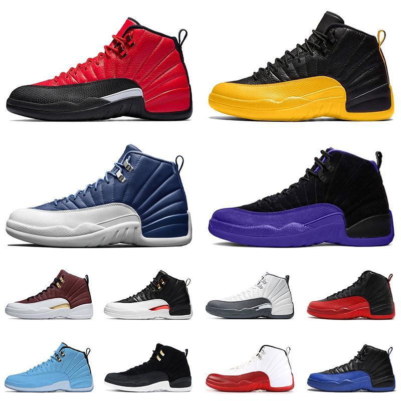 Nike Air Jordan Retro 12 12s 2020 Shoes Jumpman Hot Soco jogo real 12s Mulheres Homens XII Basquete FIBA Mens Red Academia Trainers Sneakers