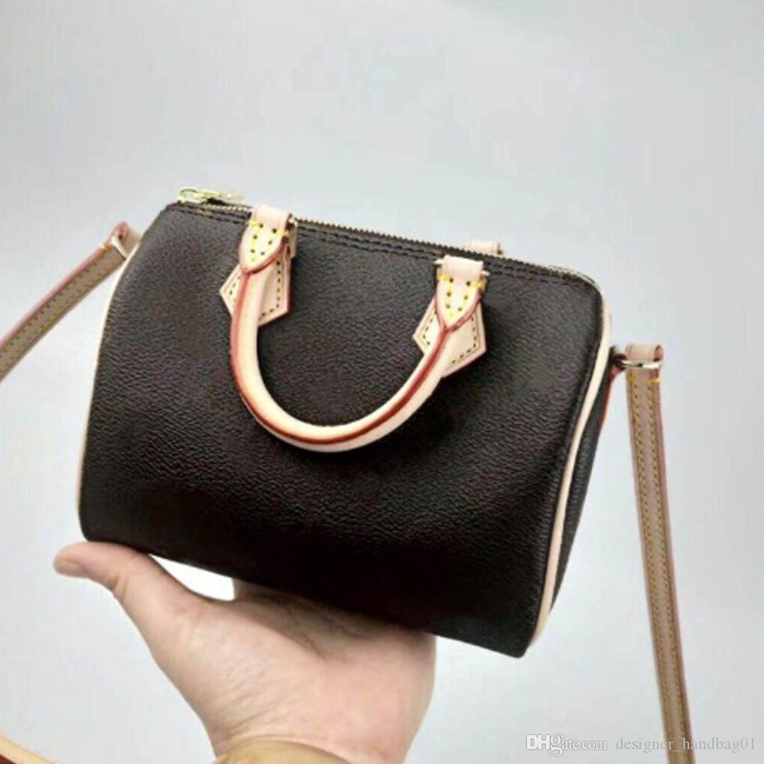 Commercio all'ingrosso nuovo sacchetto di spalla del cuscino nano modo della borsa sacchetto del telefono della tela orignal signora del cuoio genuino messaggero satchel handbag 61252