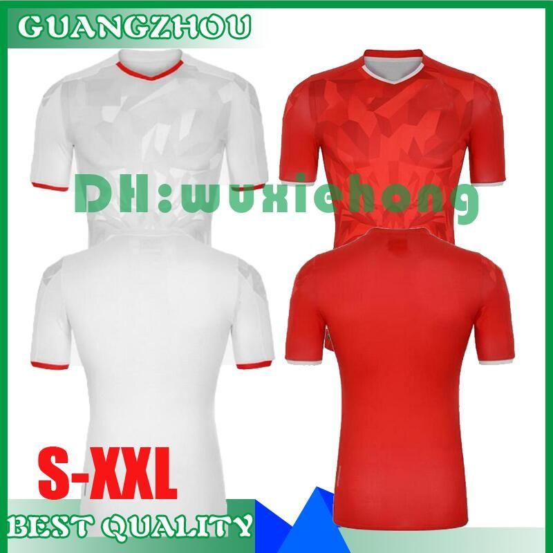 qualità tailandese 2020 2021 Tunisia maglie calcio 20 21 nazionale Msakni Khazri Sliti BEN Yousse HAMZA Casa lontano Calcio dimensioni shirt S-XXL