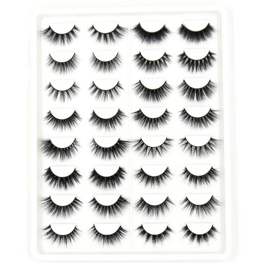 16 pairs eyelashes 3D faux mink Lashes 3D Silk lashes 3D mink eyelashes 16 pairs lashes book Thick long eyelashes False Eyelash
