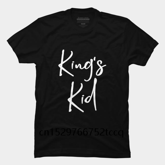 Camisetas homens curtos moda camiseta Christian Design Rei Kid ocasional o pescoço solto verão para homens