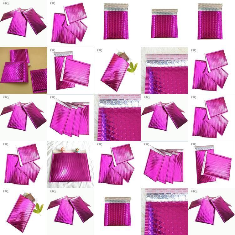 Courier nos púrpura bolsa de plástico envolvente de correo bolsas impermeables bolsos de burbuja burbuja anuncios publicitarios rellenados Sobres de la burbuja 29X23Cmstorage FJJkY