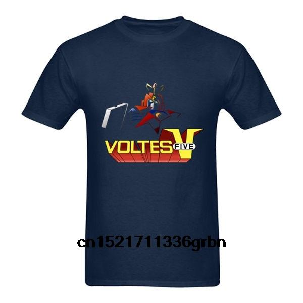 Camisa azul camiseta de los hombres de Nueva robot animado Voltes V Camiseta oscura de la camiseta camiseta de las mujeres divertidas de la novedad
