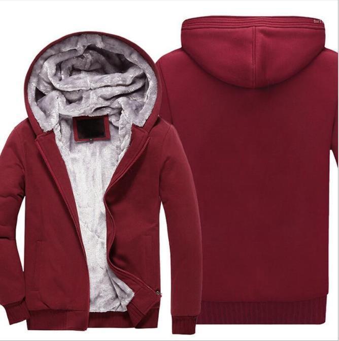 Vêtements 2020 Hommes Designer Sweats à capuche en vrac épaissie capot Braguette à glissière solide Couleur Sweat Fashion Casual Male