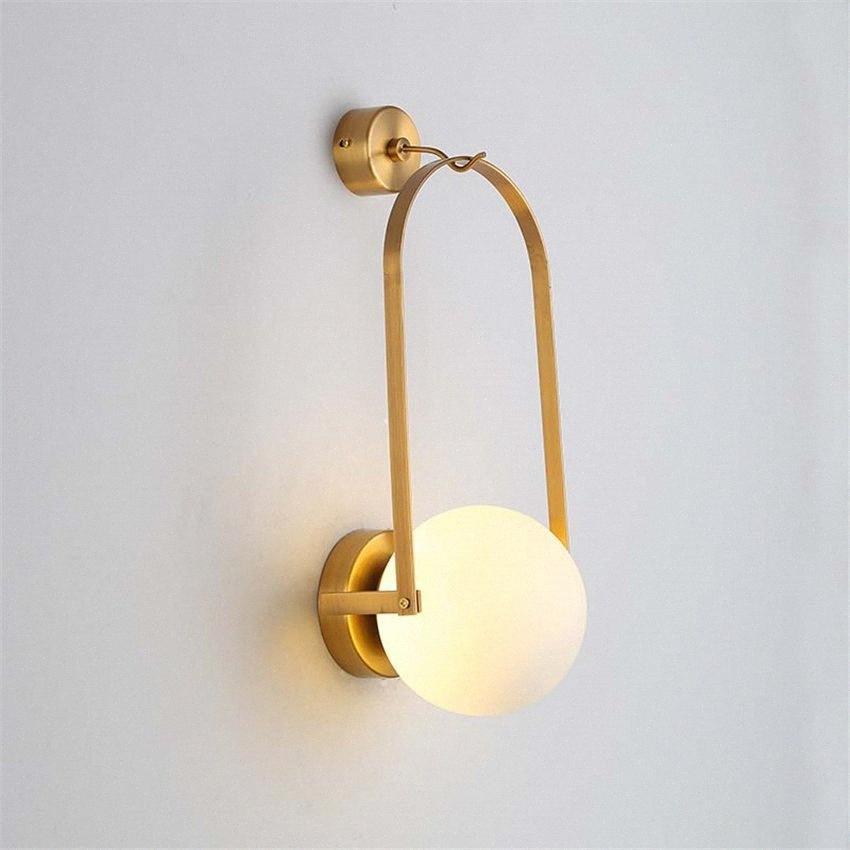 Américain Country Fer Lanterne murale Lampes Chambre Salon Aisle Étude antéviseurs chevet verre Lampes murales Balcon Équipement LZuk #