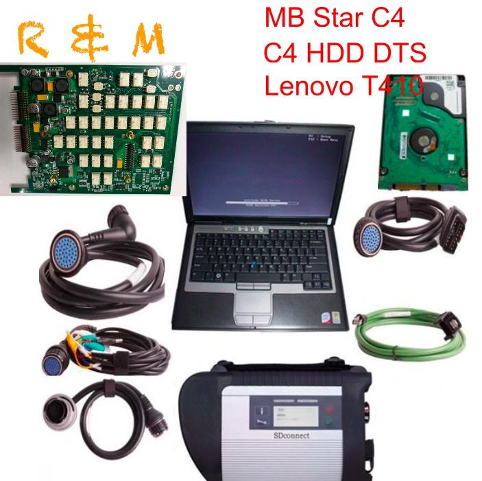 MB star c4 SD Connect compact 4 star diagnosis c4 full chip with 2020.06 HDD DTS Vediamo with lenovo T410 laptop ready to use