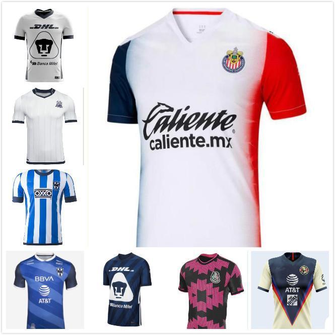 2021 Spring LIGA MX Club America Soccer Jerseys 20 21 UNAM Guadalajara Chivas Cougar Mexico Tijuana atlas cruz azul Laguna football shirt
